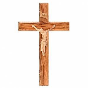 Wooden crucifixes: Holy Land Cross in natural olive wood