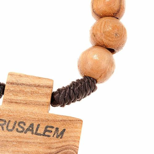 Holy Land olive wood decade rosary s2