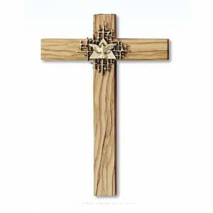 Wooden crucifixes: Holy Spirit cross in Olive wood