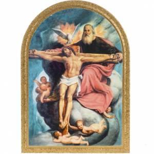 Holy Trinity De Sacchis print on wood 15x11 s1