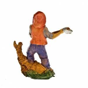 Krippenfiguren: Holzfaeller mit Arbeitsgeraete 10 Zentimeter