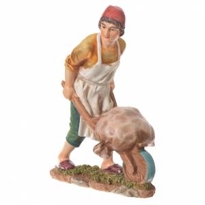 Figuras del Belén: Hombre con carretilla para belenes de 30cm, resina