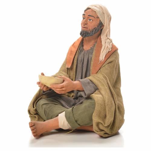 Homme avec assiette 30 cm crèche napolitaine s2