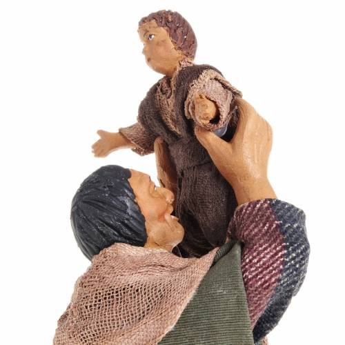 Homme avec enfant crèche napolitaine 14 cm s2