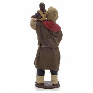 Homme et enfant 14 cm crèche Napolitaine s2