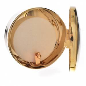 Host box in brass, 9.5cm diameter s2