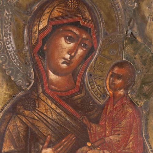 Icon Mother of God of Tichvin s3