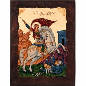 Icon of Saint George with red mantle s1