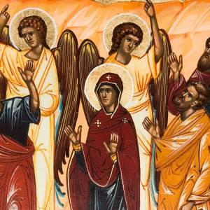 Icona Ascensione dipinta a mano Russia 22x27 s5