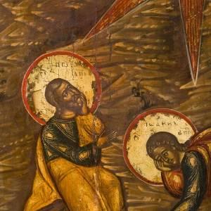 Icona russa antica Trasfigurazione sul Monte Tabor s3