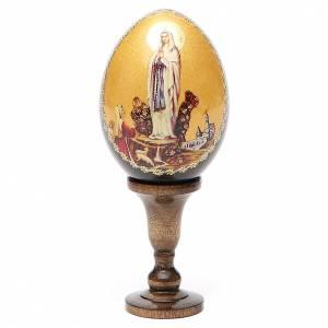 Uova russe dipinte: Icona Madonna di Lourdes