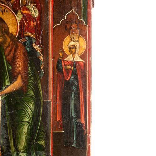 Icona antica Cristo  con la Deesis (supplica) 4