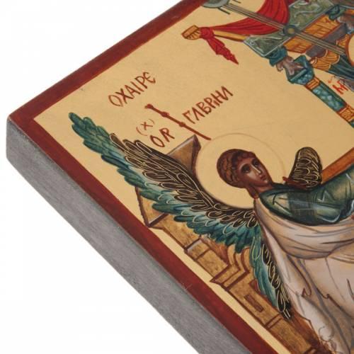 Icona russa dipinta Annunciazione s4