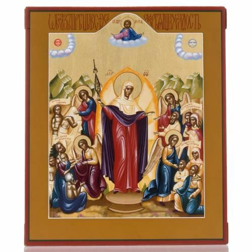 Icona russa dipinta Gioia di tutti gli afflitti s1