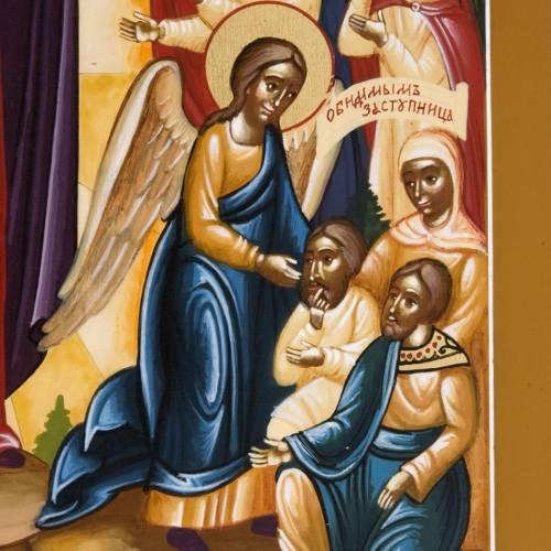 Icona russa dipinta Gioia di tutti gli afflitti s4