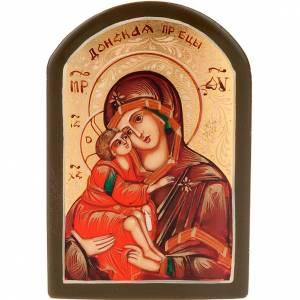 Icona russa Madonna del Don 6x9 cm s1