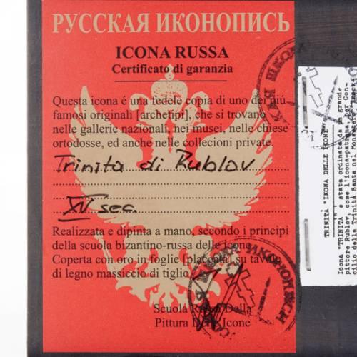Icona russa Trinità di Rublev s3