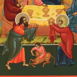 Icona Russia Santissima Trinità 31x26 s2