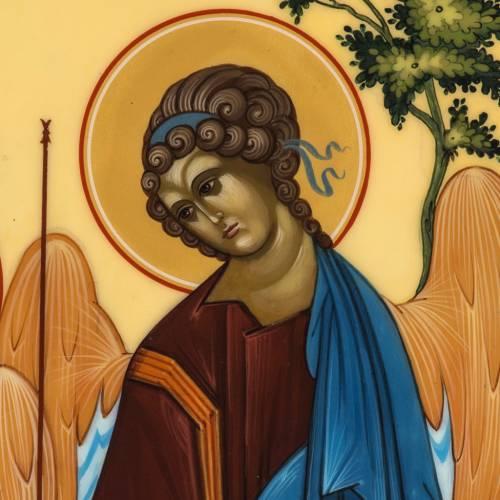 Icona Russia Santissima Trinità di Rublev 31x26 s2