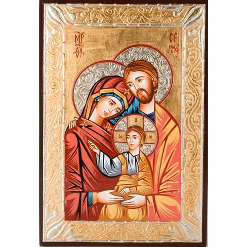 Icona sacra dipinta a mano Sacra Famiglia s1