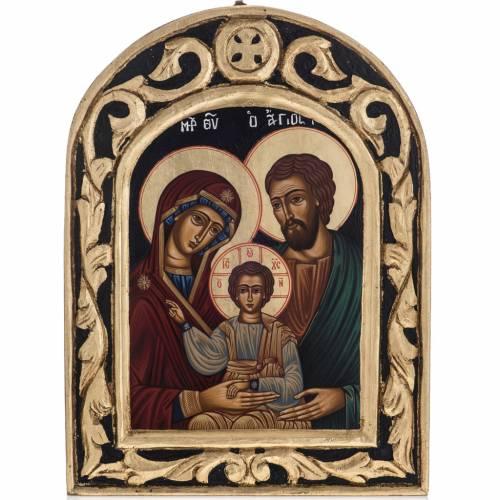 Icona Sacra Famiglia Grecia dipinta e serigrafata s1