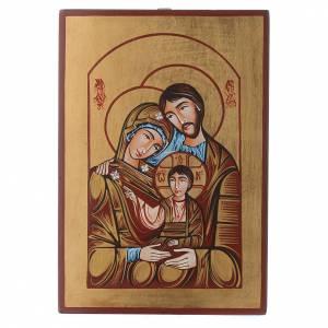 Icona Sacra Famiglia Romania dipinta a mano s1