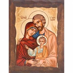 Icone Grecia dipinte e serigrafate: Icona Sacra Famiglia serigrafata greca