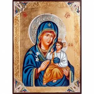 Icone Romania dipinte: Icona Vergine Odighitria greca strass