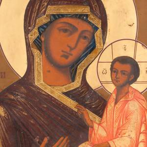 Icône ancienne Vierge de Tchivin s2