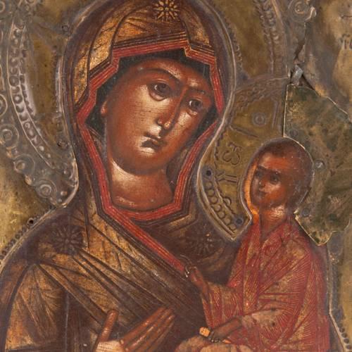 Icône ancienne Vierge de Tichvin s3