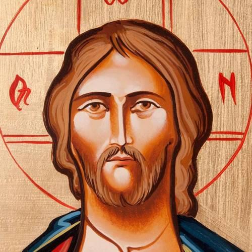 Icône  Christ Pantocrator, livre ouvert s3