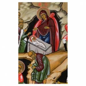 Icône Naissance de Christ peinte sur planche XIX siècle s3