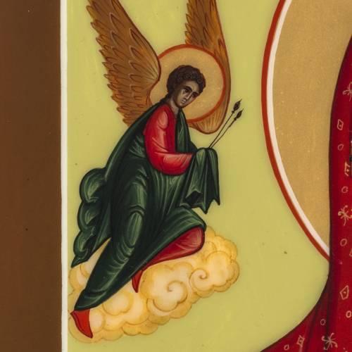 Icône russe Vierge de la Passion 27x22 cm s5
