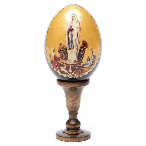 Icône Vierge de Lourdes en forme de oeuf s1