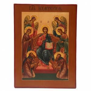 Íconos antiguos: Icono Antiguo Ruso Pantocrator XIX siglo Restaurado