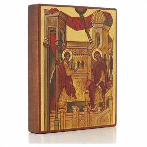 Íconos Pintados Rusia: Icono rusa Anunciación de Rublev