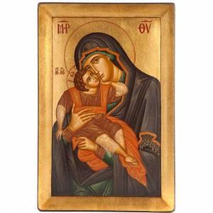Griechische Ikonen: Ikone Gottesmutter Glykophilousa, 20x30 cm, Griechenland