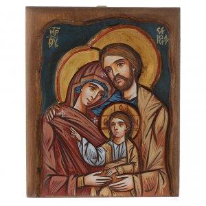 Handgemalte rumänische Ikonen: Ikone Heilige Familie Rumänien