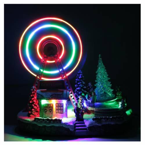 Illuminata ruota panoramica con luci 30x30x20 cm s4