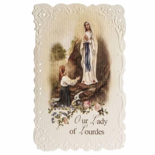Image de dévotion en anglais Our Lady of Lourdes s1