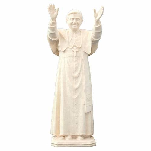 Imagen Papa Benedicto XVI de madera Val Gardena s1
