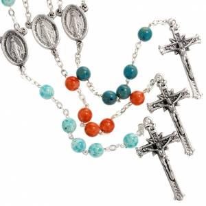 Imitation stone rosary, 6mm s1