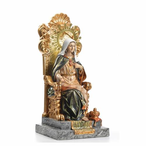 Immaculate Heart of Mary wood paste 40cm, superior finish s4