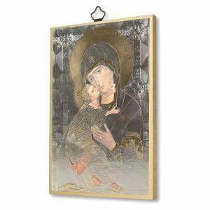 Tableaux, gravures, manuscrit enluminé: Impression sur bois Icône Vierge de Tendresse
