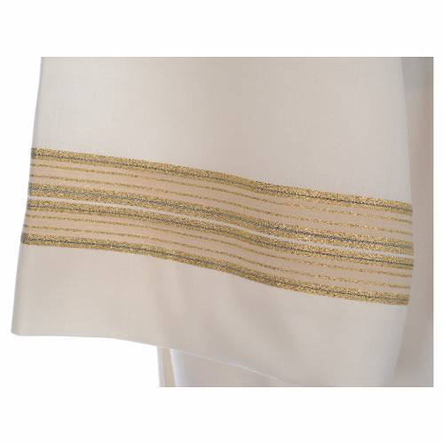 Ivory alb, polyester and wool double twisted yarn, woven fabric s5