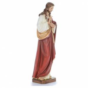 Jésus Bénissant fibre de verre peint 100cm s3