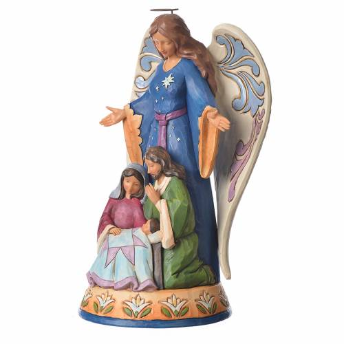 Jim Shore - Angel with Holy Family 23x16cm figurine s2