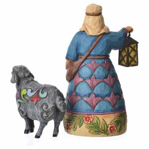 Jim Shore - Mini Nativity Shepherd (Pastore con pecora) 10cm s3
