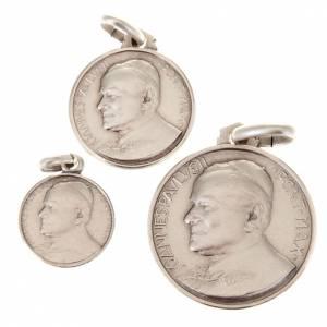 Anhänger, Kreuze, Broschen: Kleine Medaille Johannes Paul II Silber 925