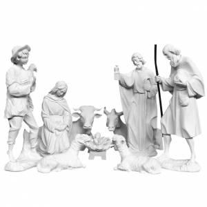 Kunstmarmor Statuen: Krippe 30cm Kunstmarmor 9 St.